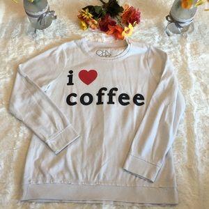 Chaser I Heart Coffee Sweatshirt Sz L